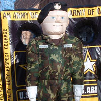 Inflatable Army Costume and Football Toss