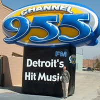 Channel 95.5 Radio Inflatable