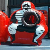 Coca Cola Inflatable Baseball Pitch