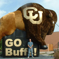 Colorado University Furry Buffalo Inflatable Mascot