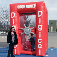 Digicel Inflatable Cash Machine