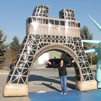 Eiffel Tower Liberty Head Custom Inflatable