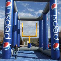 Pepsi Football Kick Inflatable