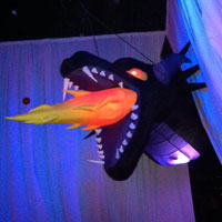 Dragon Inflatable Head LED Lights
