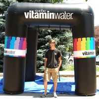Glaceau Vitamin Water Inflatable Misting Booth