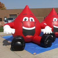 Community Blood Centers Inflatable Blood Drop Character