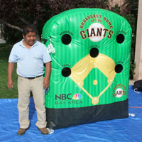 NBC Bay Area Giants Inflatable Base Ball Toss Game