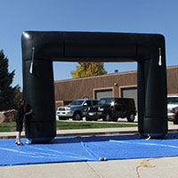 Black 90 Velcro Banner Area Inflatable Arch
