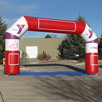 YMCA Grils on the Run Stride 45 Inflatable Arch
