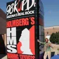 98 KUPD 3 Sided Radio Inflatable Billboard