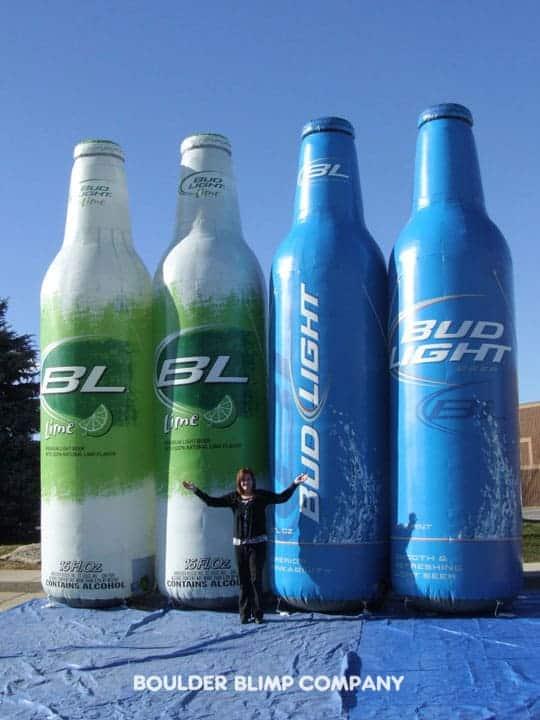 Bud Light Aluminum Bottles Inflatable