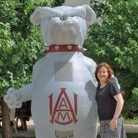 Inflatable Bulldog Mascot Costume Sports Inflatable