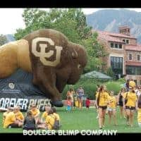CU Buffs Inflatable Buffalo Mascot Sports Inflatable
