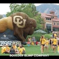 CU Buffs Inflatable Buffalo Mascot Sports Inflatable