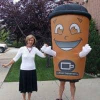 Coffee Beanery Inflatable Costume