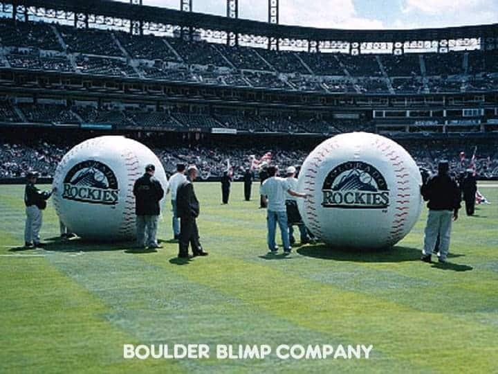 Colorado Rockies Inflatable Baseballs Boulder Blimp Sports Inflatable