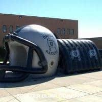 Randall Raiders Inflatable Football Helmet Tunnel