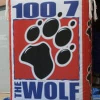 1007 The Wolf Radio Inflatable Billboard