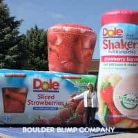 Dole Shakers and Sliced Strawberries Inflatable