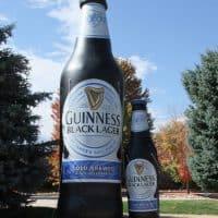 Guinness Black Lager Inflatable Bottle