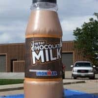 Iron Man Low Fat Chocolate Milk Inflatable