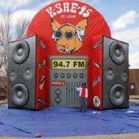 KSHE Radio Inflatable