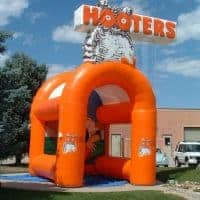 Hooters Inflatable Sports Cage