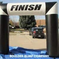Black White Finish Inflatable Arch