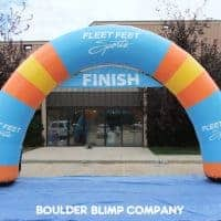 Fleet Feet Sports Inflatable Arch Color Variant