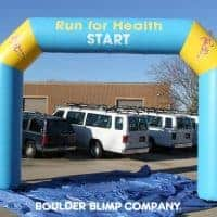 Run for Health Inflatable Arch