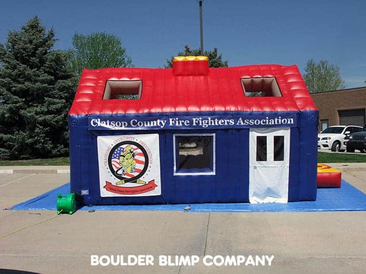 Inflatable fire safety house architectural designs for Fire safety house
