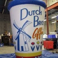 Dutch Bros Coffee Inflatable Cup