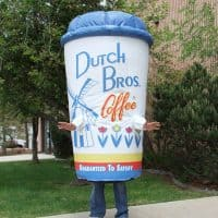 Dutch Bros Coffee Inflatable Cup Costume