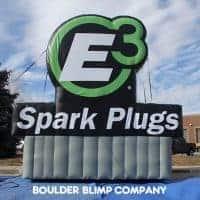 E3 Spark Plugs Inflatable Billboard