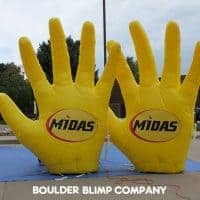 Midas Touch Inflatable Hands