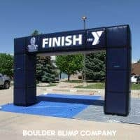 YMCA Navy Blue Inflatable Arch