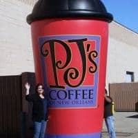 PJ's Coffee Inflatable Cup Replica