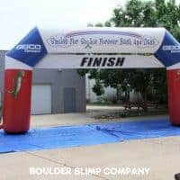 Smiles for Sophie/Geico Inflatable Race Arch Finish