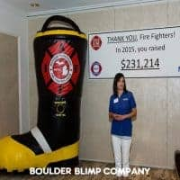 Michigan Professional Fire Fighters Union Inflatable Boot NonprofitsBoulder Blimp