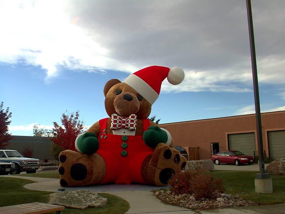 Christmas Bear w: overalls 14956 :2