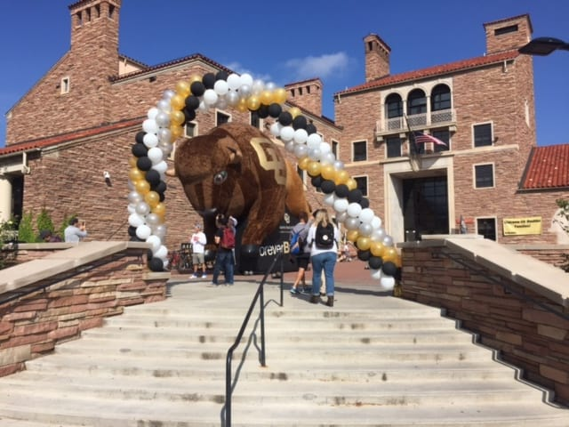 University of Colorado Boulder Alphie Inflatable by Boulder Blimp Company
