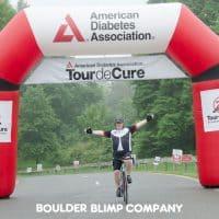 American Diabetes Association Tour de Cure Nonprofits Inflatable Race Arch - Boulder Blimp