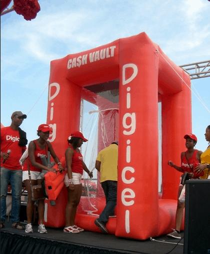 Digicel Inflatable Cash Vault - Boulder Blimp