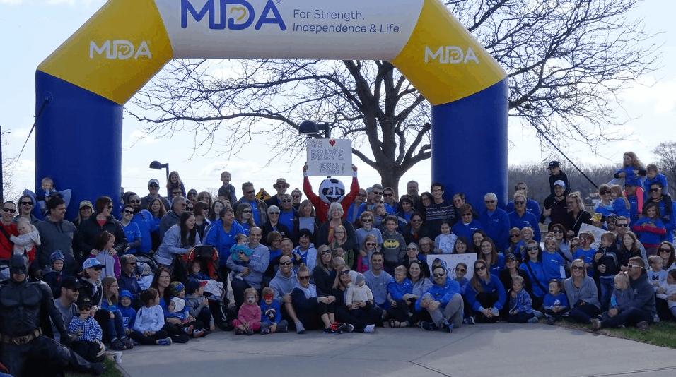 Muscle Dystrophy Association Walk Nonprofits Inflatable Arch - Boulder Blimp