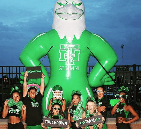 North Texas University Inflatable Eagle Mascot Boulder Blimp Sports Inflatable