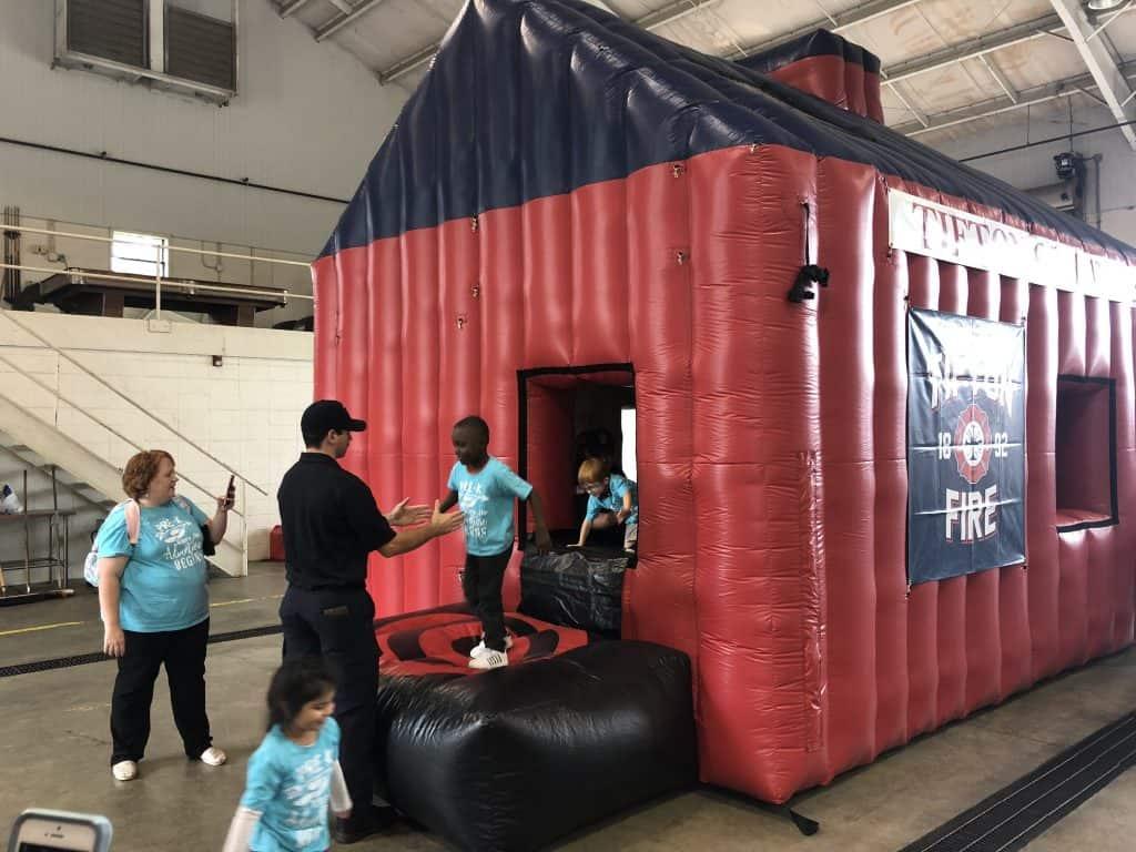 Tifton Fire Inflatable Fire Education House Boulder Blimp