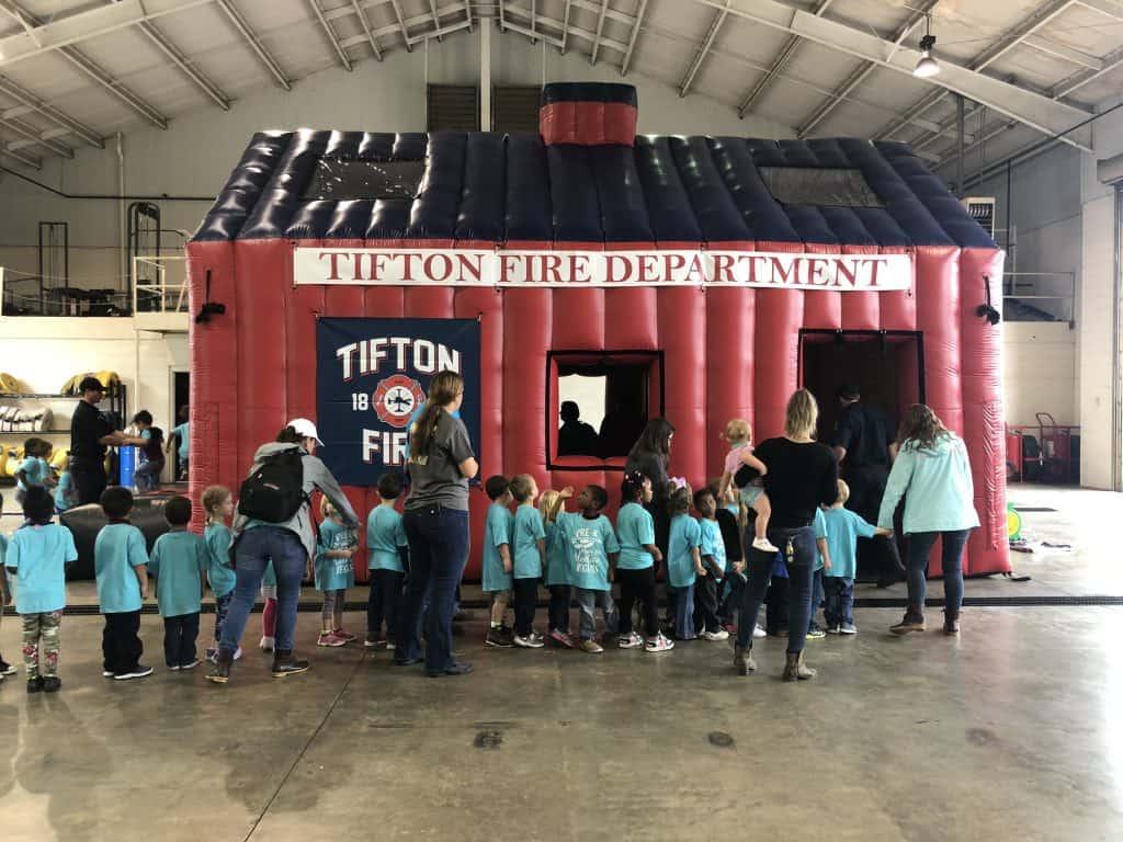 Tifton Fire Inflatable Fire House Boulder Blimp