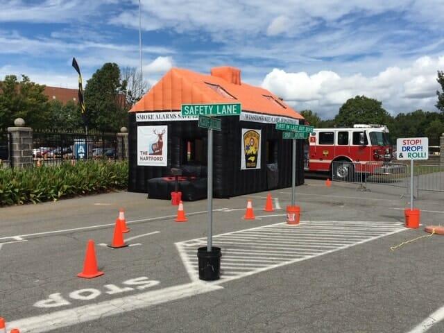 Winston Salem Fire Inflatble FIre Safety House Boulder Blimp