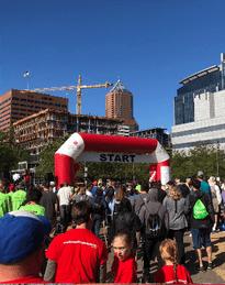American Heart Association Inflatable Arch Boulder Blimp Nonprofit Inflatables